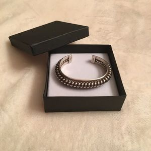 Jewelry - Sterling Silver Cable Cuff Bracelet